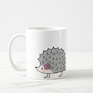 Cute Hedgehog Mug Fun Hedgehog graphic Mug for her