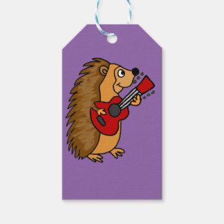 Cute Hedgehog Playing Guitar Art Gift Tags