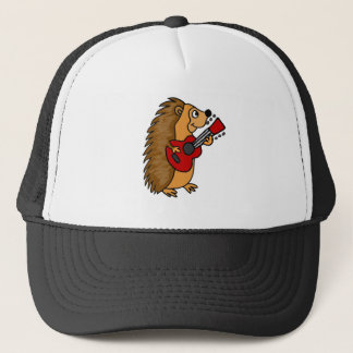 Cute Hedgehog Playing Guitar Art Trucker Hat