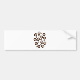 cute hedgehogs bumper sticker