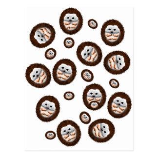 cute hedgehogs postcard