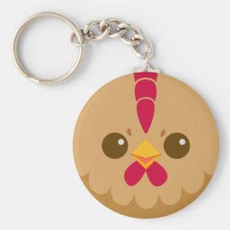 Cute Hen / Chicken Face Key Ring