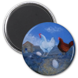 Cute Hens/ Chickens Custom Art Magnet