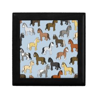Cute Herd of Horses Gift Box