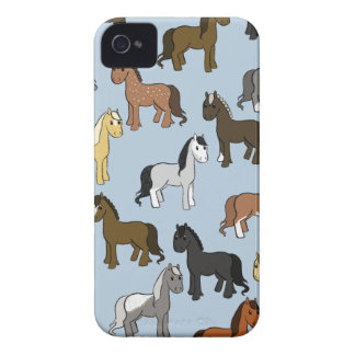 Cute Herd of Horses iPhone 4 Cases