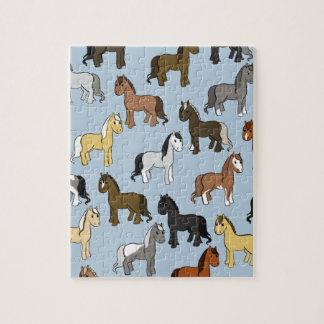 Cute Herd of Horses Jigsaw Puzzle