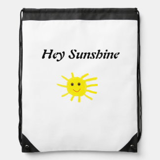 cute Hey Sunshine Drawstring Bag