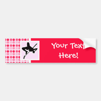 Cute High Jump Bumper Sticker
