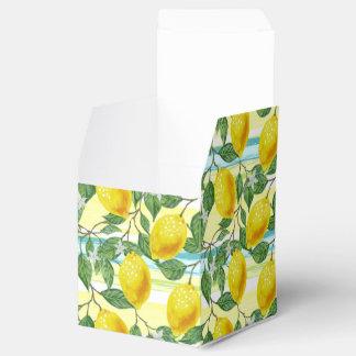 Cute Hip Tropical Summer Lemons Fruit Pattern Favour Box