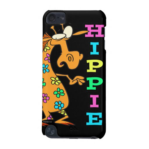 cute hippie flowers giraffe cartoon character iPod touch 5G cover