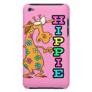 cute hippie flowers giraffe cartoon character Case-Mate iPod touch case