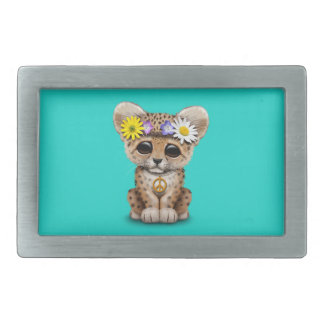 Cute Hippie Leopard Cub Belt Buckle