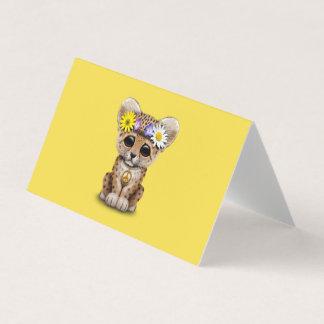Cute Hippie Leopard Cub Card