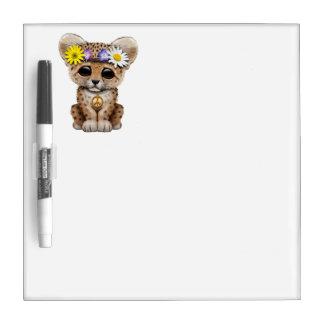 Cute Hippie Leopard Cub Dry Erase Board