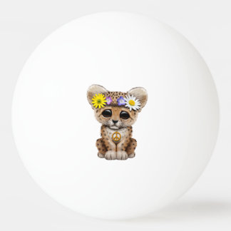 Cute Hippie Leopard Cub Ping Pong Ball
