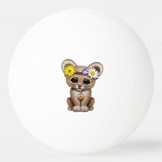 Cute Hippie Lion Cub Ping Pong Ball