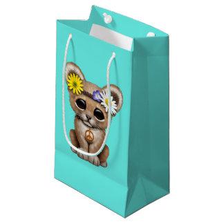 Cute Hippie Lion Cub Small Gift Bag