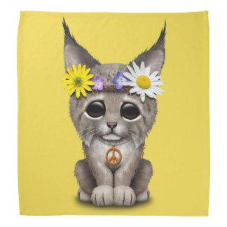 Cute Hippie Lynx Cub Bandana