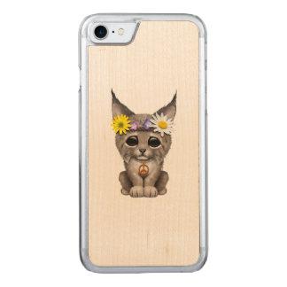 Cute Hippie Lynx Cub Carved iPhone 8/7 Case