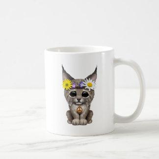 Cute Hippie Lynx Cub Coffee Mug