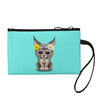 Cute Hippie Lynx Cub Coin Purse