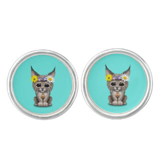 Cute Hippie Lynx Cub Cuff Links
