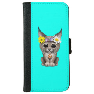 Cute Hippie Lynx Cub iPhone 6 Wallet Case