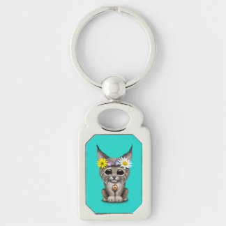 Cute Hippie Lynx Cub Key Ring