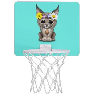 Cute Hippie Lynx Cub Mini Basketball Hoop