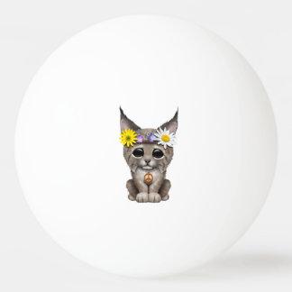 Cute Hippie Lynx Cub Ping Pong Ball