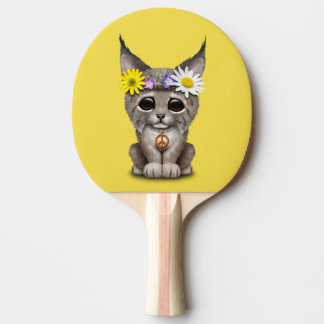 Cute Hippie Lynx Cub Ping Pong Paddle