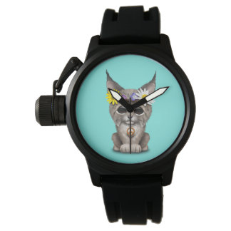 Cute Hippie Lynx Cub Watch