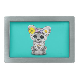 Cute Hippie Snow leopard Cub Belt Buckle