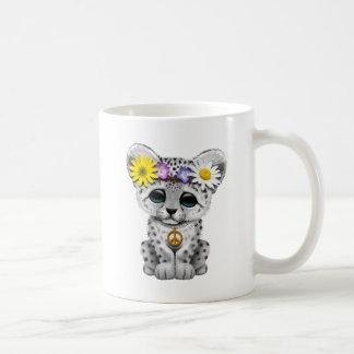 Cute Hippie Snow leopard Cub Coffee Mug