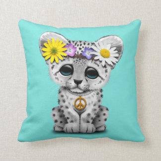 Cute Hippie Snow leopard Cub Cushion