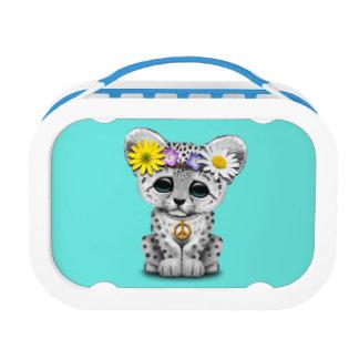 Cute Hippie Snow leopard Cub Lunch Box