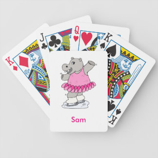 Cute Hippo for kids 7 Bicycle Playing Cards