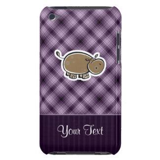 Cute Hippo; Purple iPod Case-Mate Cases