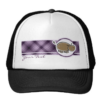 Cute Hippo Purple Trucker Hat