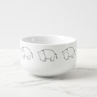 cute hippo soup mug