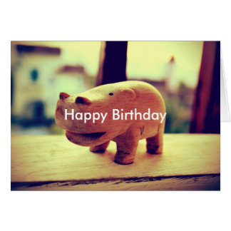 Cute Hippo Toy Card