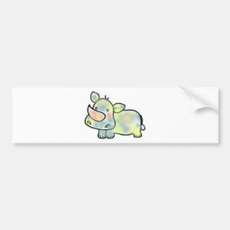 Cute hippopotamus bumper sticker