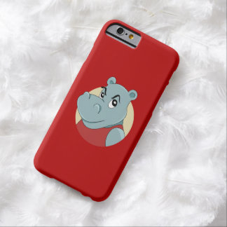 Cute hippopotamus cartoon barely there iPhone 6 case