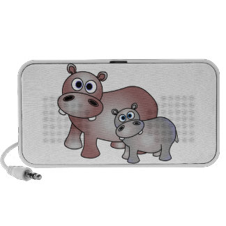 Cute Hippos Mom and Baby Notebook Speaker