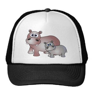 Cute Hippos Mom and Baby Trucker Hat