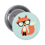 Cute Hipster Red Fox 6 Cm Round Badge