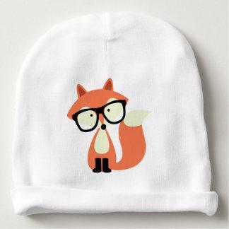 Cute Hipster Red Fox Baby Beanie