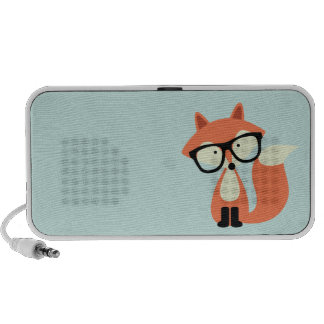 Cute Hipster Red Fox Mini Speakers