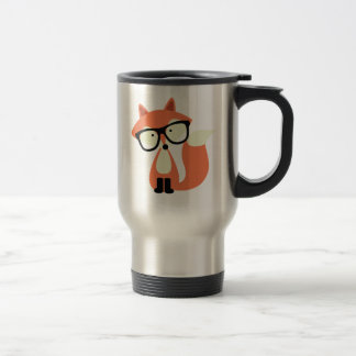 Cute Hipster Red Fox Travel Mug