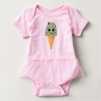 Cute hoists cream baby bodysuit
